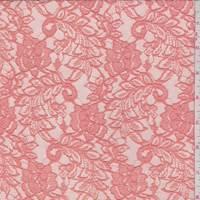 *1 1/2 YD PC--Dark Peach Floral Lace