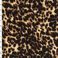 *7/8 YD PC--Brown/Beige/Multi Cheetah Print Interlock Knit