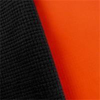 *2 YD PC--Orange/Black Waterproof Stretch Soft Shell Grid Fleece
