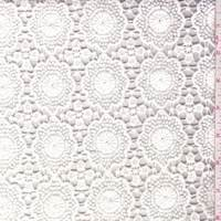 *3 YD PC--Dark Ivory Floral Pop Lace