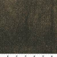 *3 YD PC --Mossy Brown Chevron Pile Velveteen Decorating Fabric