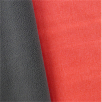 *4 YD PC--Soft Shell Fleece - Coral Pink/Gray