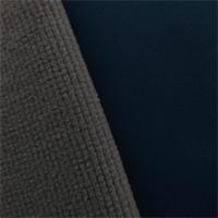 *3 YD PC--Soft Shell Grid Fleece - Navy Blue/Gray