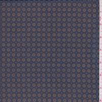 *4 1/2 YD PC--Navy Mini Medallion Chiffon