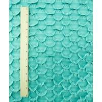 *3 YD PC--Teal Scallop Ruffle Knit