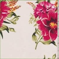 *3 YD PC--Ivory Multi Large Floral Rayon Challis