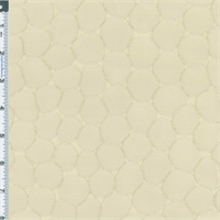 *4 YD PC--Cream Beige Textured Sphere Home Decorating Fabric