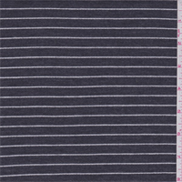 *1 1/2 YD PC--Slate/White Stripe Layered Knit