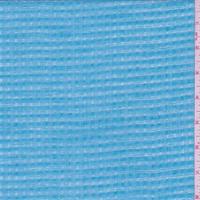 *2 YD PC--Aqua/Pearl Check Leno Linen