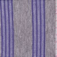 *1 3/4 YD PC--Silver/Purple Stripe Mesh Sweater Knit