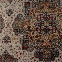 *3/4 YD PC--Multicolor Graphite Piazza Chenille Home Decorating Fabric