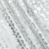 *1 1/2 YD PC--Pearl White/Silver Cheetah Foil Print Velvet Decor Fabric