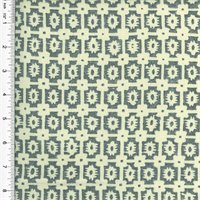 *3 YD PC--Designer Cotton Blue/Gray Foulard Print Home Decorating Fabric