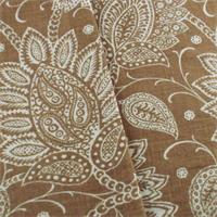 *1 YD PC--Designer Brown Floral Paisley Print Decorating Fabric