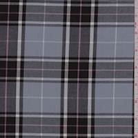 *4 YD PC--Black/Grey Plaid Flannel