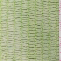 *1 YD PC--Key Lime Green Ruffle Stretch Mesh