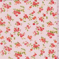 *1 YD PC--Creamy Peach Floral Bouquet Georgette