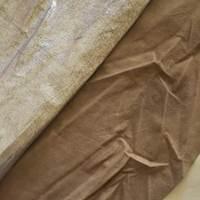 Metallic Silver Leather Hide