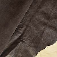 Metallic Brown Textured Leather Hide