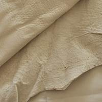 Bone White Textured Leather Hide