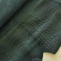 Deep Mermaid Green Reptile Skin Leather Hide