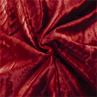 *1 1/4 YD PC--Rich Red Silk Panne Velvet Drapery Fabric