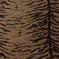 *3/4 YD PC--Brown/Beige Zebra Jacquard Home Decorating Fabric