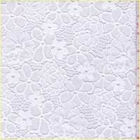 *1 3/8 YD PC--Optic White Floral Lace
