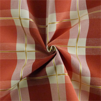 *2 3/4 YD PC--Orange/Ivory/Terracotta Plaid Home Decorating Fabric