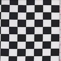 White/Black Race Check Brushed Jersey Knit