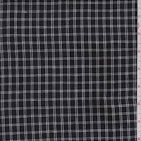 *3 1/4 YD PC--Black/White Check Cotton Suiting