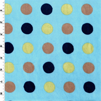 *1 YD PC--Blue/Multi Dot Minky