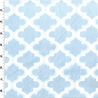 *1 YD PC--Stone Blue/White Moroccan Minky