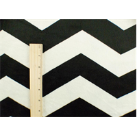 *3/4 YD PC--Black/ White Chevron Stripe Minky