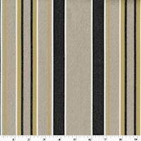 *2 YD PC--Beige/Black/Yellow Vertical Stripe Woven Home Decorating Fabric
