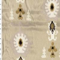 *1 1/2 YD PC--Taupe/Brown/White Ethnic Woven Home Decor Fabric
