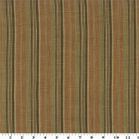 *7 1/4 YD PC--Copper/Brown Printed Stripe Vintage Linen Home Decorating Fabric