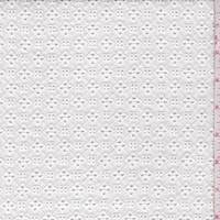 *1 1/8 YD PC--White Mini Lattice Eyelet