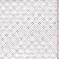 *7/8 YD PC--White Mini Lattice Eyelet