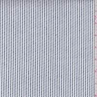 *5 YD PC--White/Navy Rope Stripe Cotton