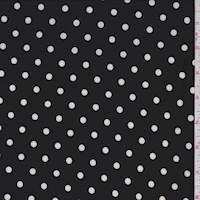 *1 YD PC--Black Dot Jersey Knit