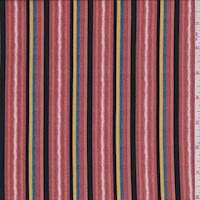 *2 1/8 YD PC--Salmon Stripe Jersey Knit