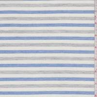 *2 YD PC--White/Blue/Grey Stripe Cotton