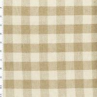 *1/2 YD PC--Beige/Natural White Linen Checkered Plaid Decorating Fabric