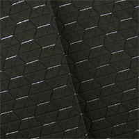 *6 YD PC--Dark Gray Sparkle Ritz Penthouse Octagon Decorating Fabric