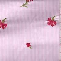 Pink/White Stripe Polyester