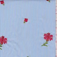 Soft Blue/White Stripe Polyester