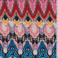 *3 1/8 YD PC--Clay Multi Moroccan Rayon Challis