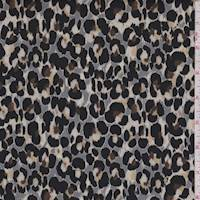 *2 1/2 YD PC--Grey/Beige/Black Cheetah Satin