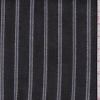 *1 YD PC--Black/Grey/White Stripe Denim